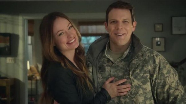 Olivia Wilde and Jake Lacy in Love the Coopers