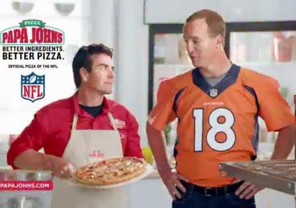 Peyton Manning endorses Papa Jones