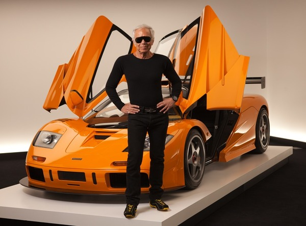 Ralph Lauren with his McLaren