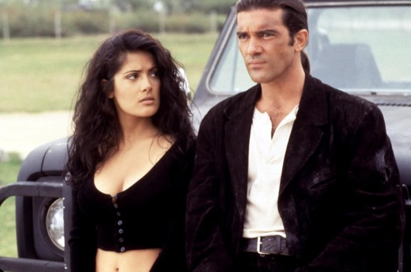 Antonio Banderas and Salma Hayek in Desperado