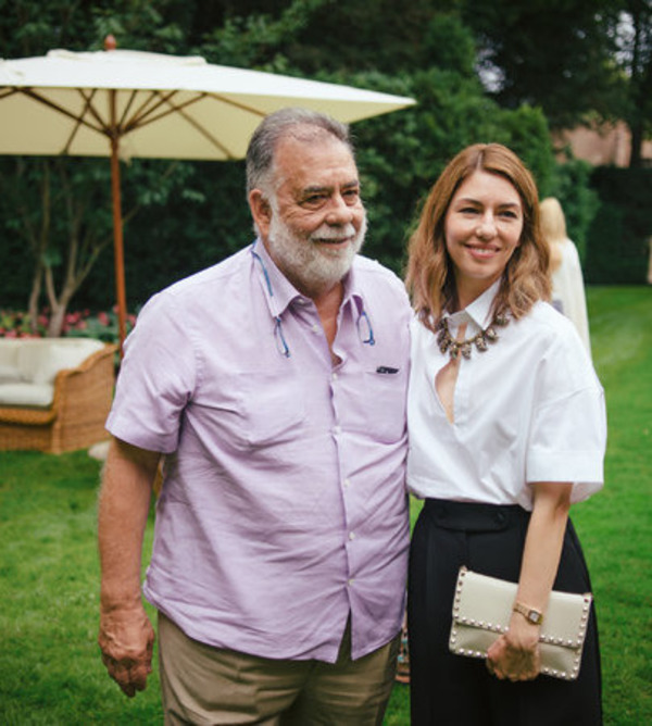 Sofia Coppola with her father Francis Ford Coppola