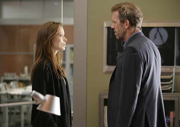 Olivia Wilde and Hugh Laurie in House MD