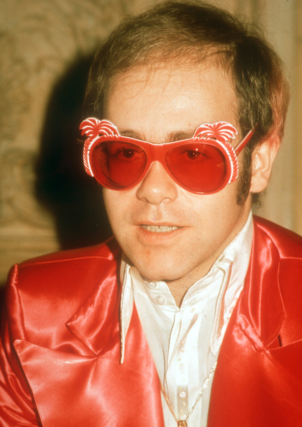 Elton John collection of glasses