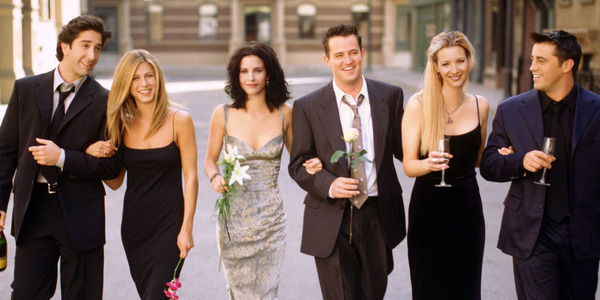 Matt LeBlanc (on the right) and Friends co-stars