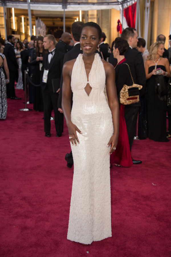 Lupita Nyong'o pearl dress