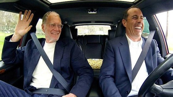 "David Letterman and Jerry Seinfeld in ""Comedians in Cars Getting Coffee"""