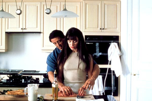 Madeleine Stowe and Sylvester Stallone in Avenging Angelo