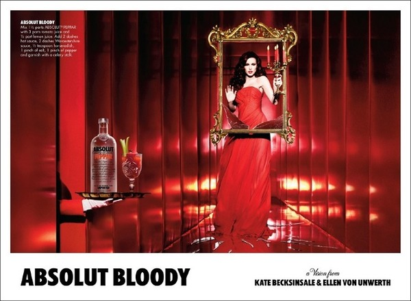 Kate Beckinsale in Absolut Vodka ads