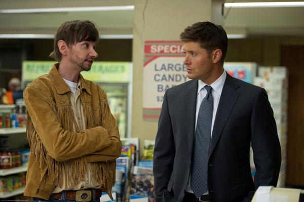 DJ Qualls and Jensen Ackles in Supernatural