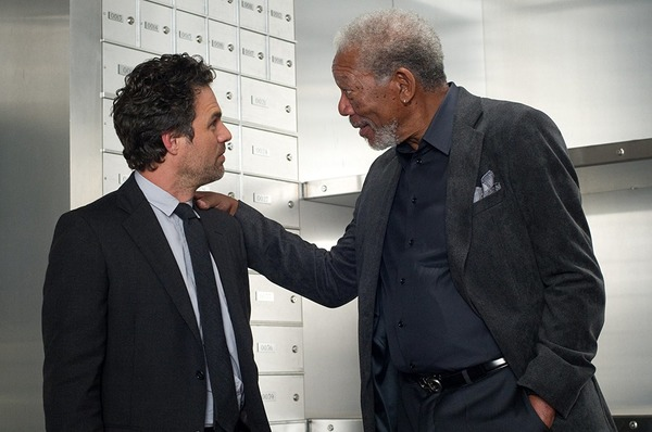 Mark Ruffalo and Morgan Freeman in Now You See Me