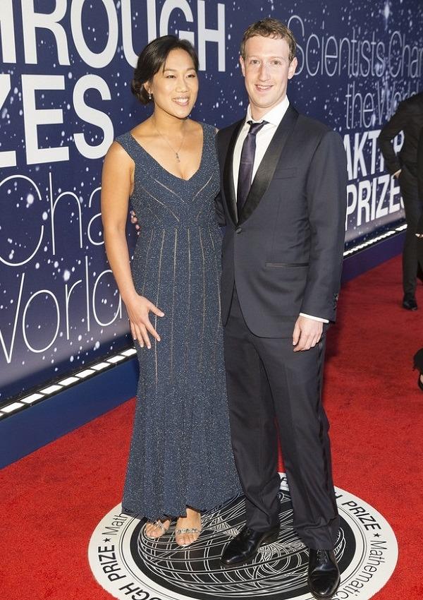 Priscilla Chan and facebook founder Mark Zuckerberg