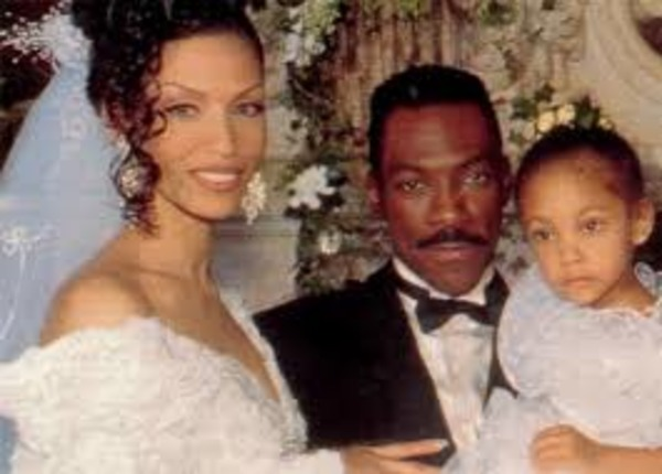 Nicole and Eddie Murphy wedding (with their daughter Bria)