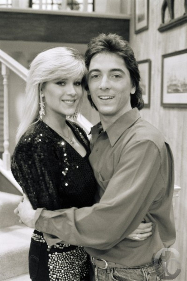 Samantha Fox and Scott Baio in Charles in Charge