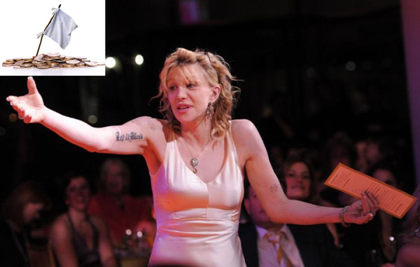 Courtney Love as one of famous bankrupts