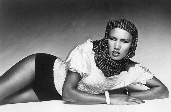 Grace Jones as a model