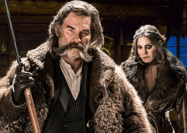 "Kurt Russel and Jennifer Jason Leigh in ""Hateful Eight"""