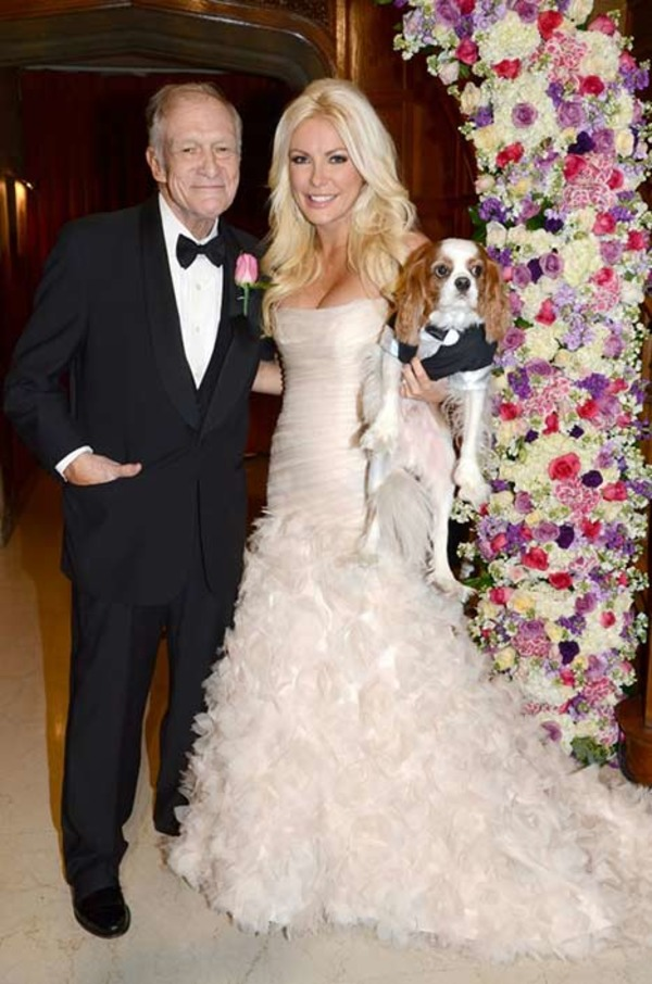 Crystal and Hugh Hefner wedding