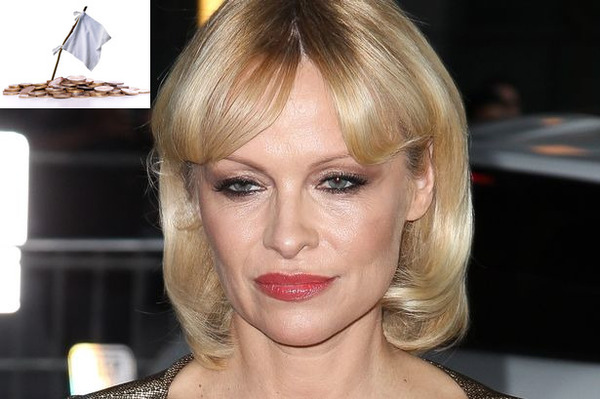 Pamela Anderson as one of famous bankrupts