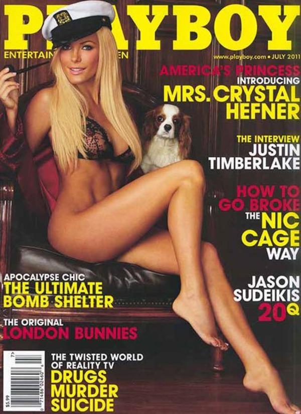 Crystal Harris-Hefner at Playboy cover