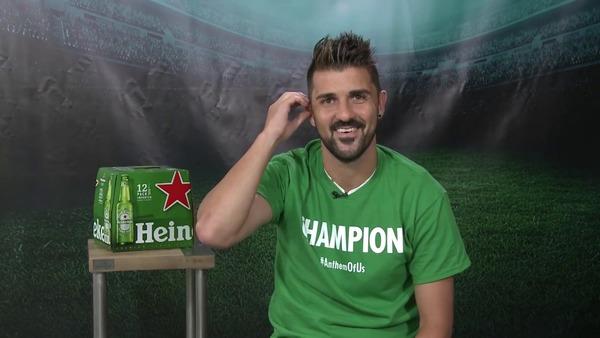David Villa endorses Heineken