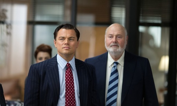 Rob Reiner and Leonardo DiCaprio in The Wolf of Wall Street
