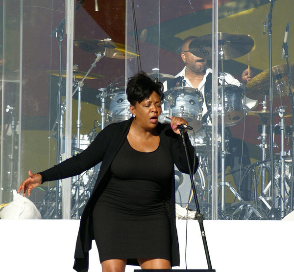 Anita Baker is performing at one of her shows