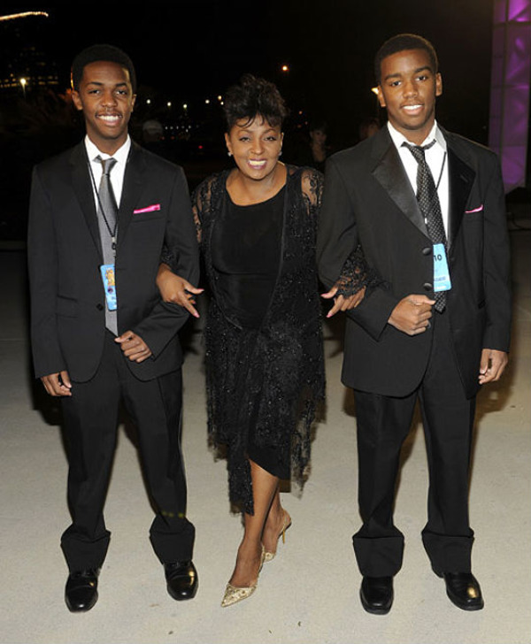 Anita Baker with her sons