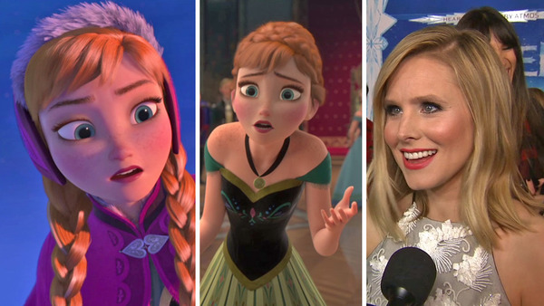 Kristen Bell voices Anna in Frozen