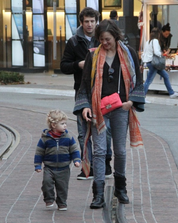 Guillaume Canet with his wife Marion Cotillard and their son Marcel