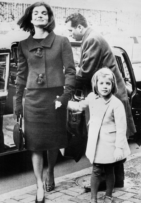 Caroline Kennedy with her mother Jackie Kennedy