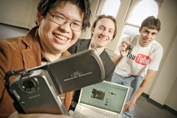 Steve Chen, Chad Hurley and Jawed Karim