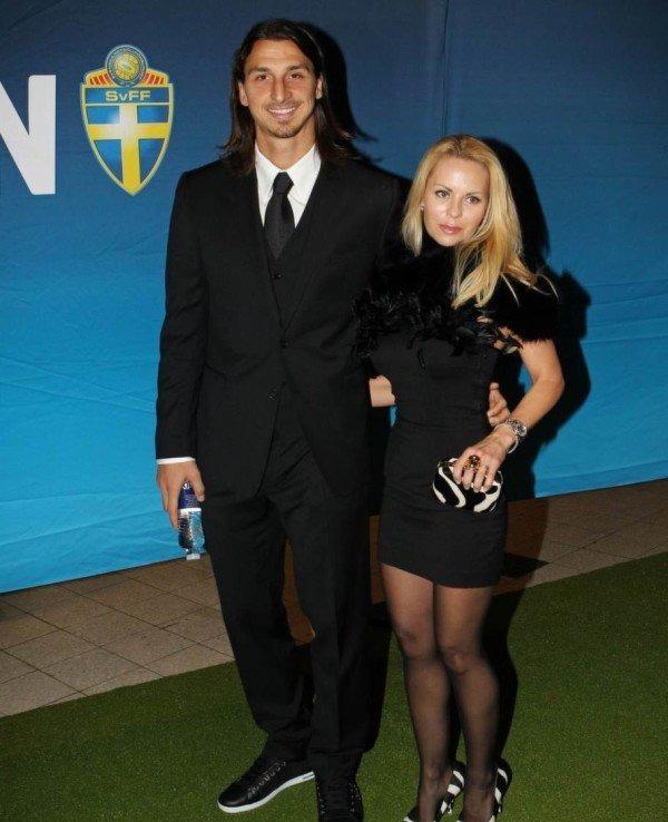 Helena Seger with Zlatan Ibrahimovic