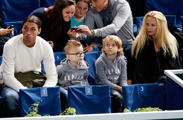 Zlatan Ibrahimovic, Helena Seger and their kids
