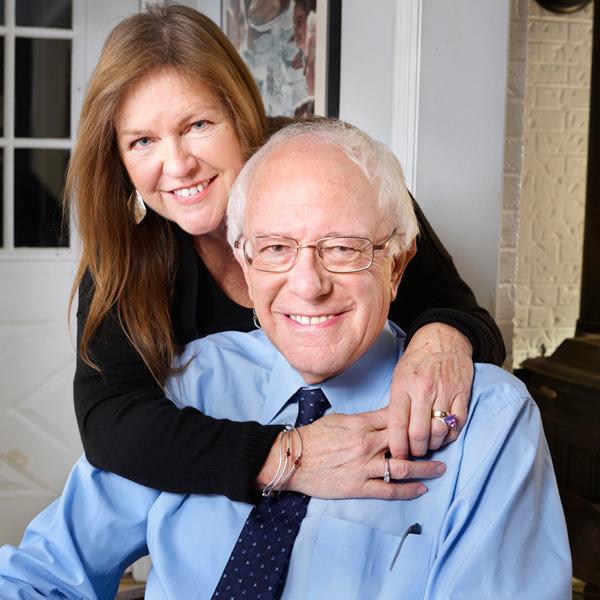 Bernie Sanders and his wife Jane O'Meara