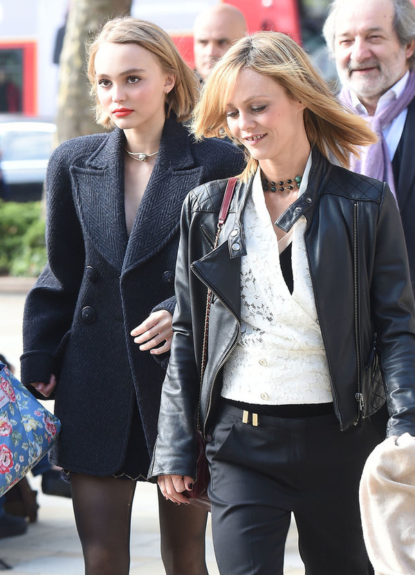 Lily-Rose Depp with her famous mother Vanessa Paradis