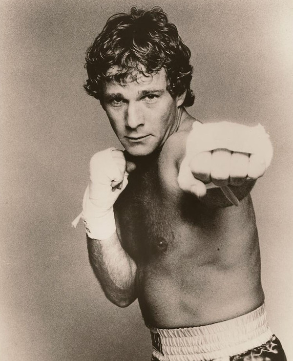 Ryan O'Neal as a boxer