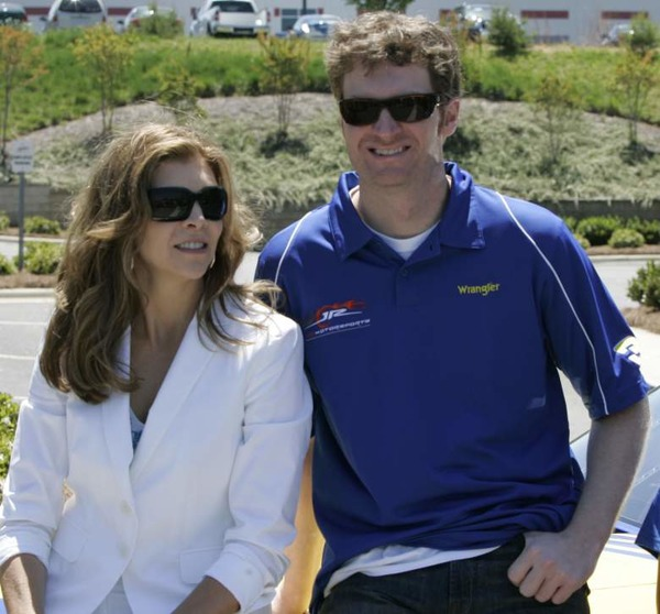 Teresa Earnhardt and her stepson Dale Earnhardt Jr in their better days