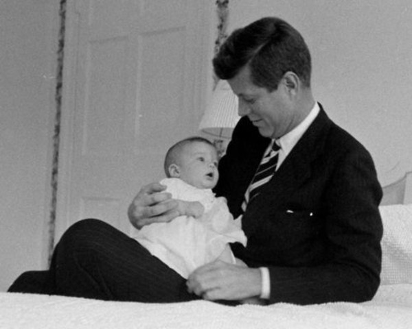 Caroline Kennedy with her father John F. Kennedy