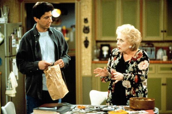"Ray Romano and Doris Roberts in ""Everybody Loves Raymond"""