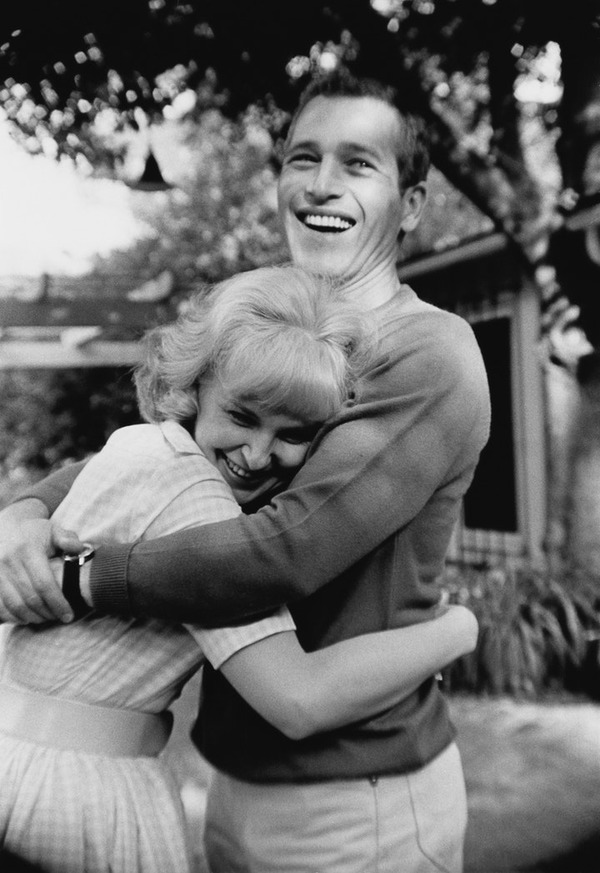 Joanne Woodward with her late husband Paul Newman