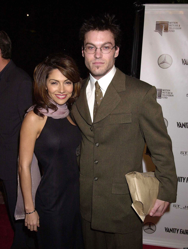Brian Green and the mother of his eldest son Vanessa Marcil