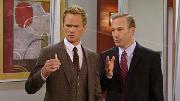 Neil Patrick Harris and Bob Odenkirk in HIMYM