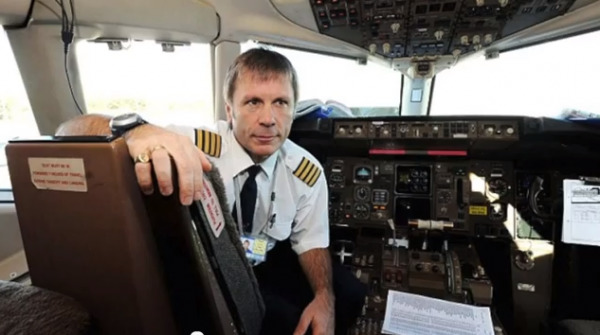 Bruce Dickinson as a pilot