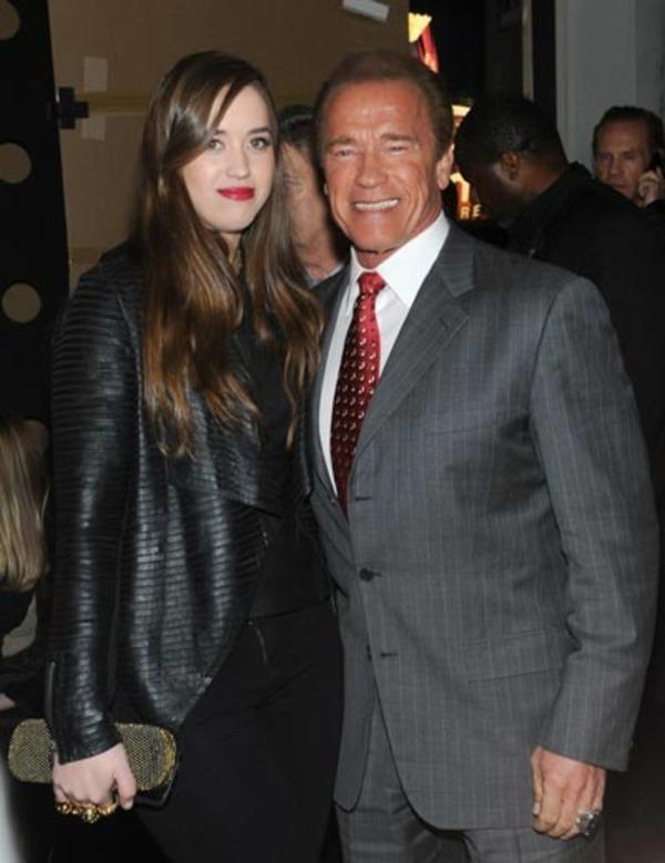 Christina Schwarzenegger with her stellar father Arnold Schwarzenegger