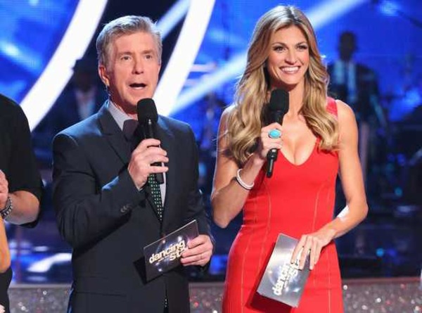 Erin Andrews and Tom Bergeron co-host DWTS