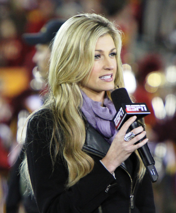 Young Erin Andrews as ESPN reporter