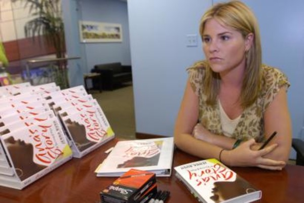 "Jenna Bush with her book ""Ana's Story"""