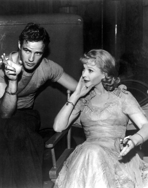"Marlon Brando and Vivien Leigh in ""A Streetcat Named Desire"""