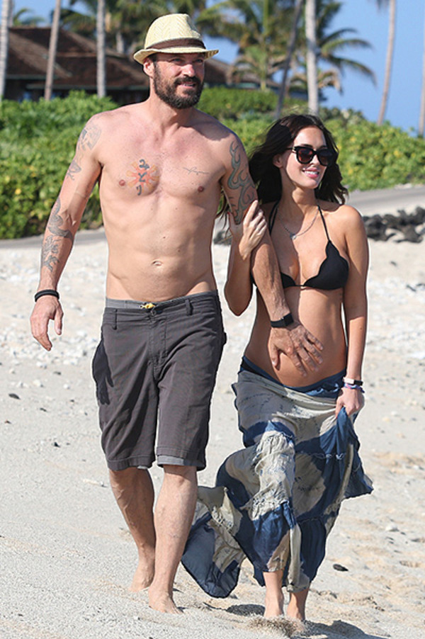 Pregnant Megan Fox with her husband Brian Green