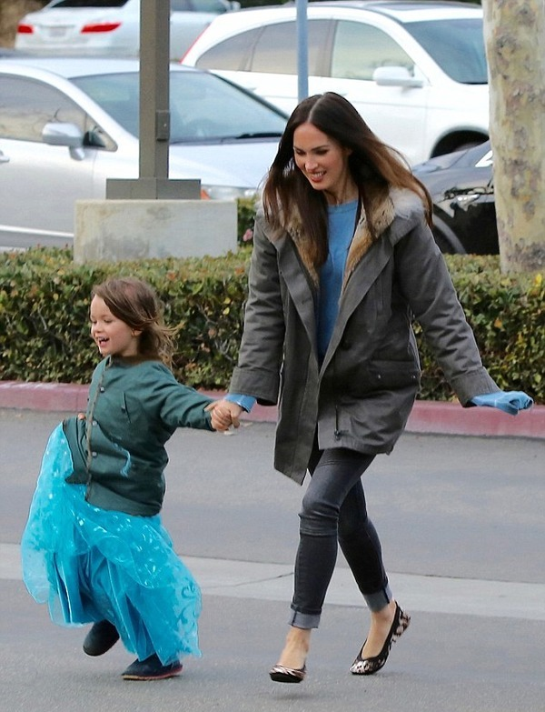 Megan Fox with her son Noah, who likes to wear dresses